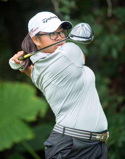 Amanda Tan from Singapore on the 16th tee .2nd Round of the 37th Queen Sirikit Cup Asia-Pacific Ladies golf tournament. Hong Kong Kong Golf Club New Course Fanling